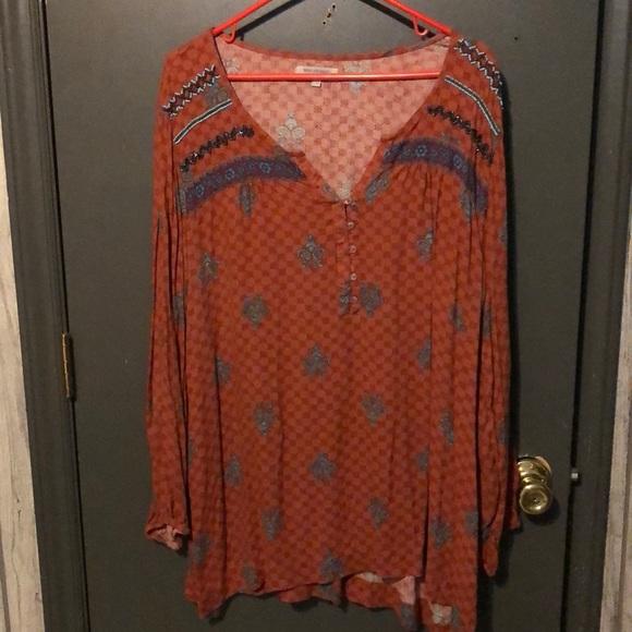 Cost Plus World Market Tops - Long sleeve beaded shirt